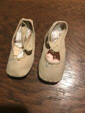 Antique Linen Button Strap Baby Doll Shoes