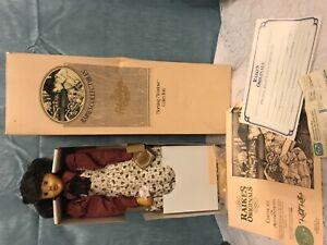 "Robert Raikes wood Doll Morning Meadow Collection ""Abigail"" Applause Inc COA"
