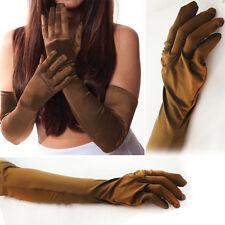 Brown Lycra Stretch Glove Elbow Opera Superhero Costume Halloween Party XS-XL US