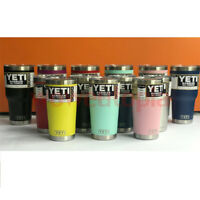 NEW 20OZ Yeti Rambler 20oz Stainless Steel Insulated Tumbler with Lid All Colors