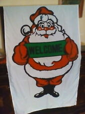 "Christmas Large Flag 3' x 5' Santa Clause ""Welcome"" New"