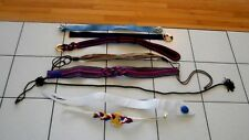 Lot Eight Vintage Belts 1980's-1990's Elastic Leather Cloth Various Sizes (At