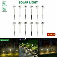 12 PACK Solar Pathway Lights Outdoor Garden Lawn Landscape Waterproof LED Lamp