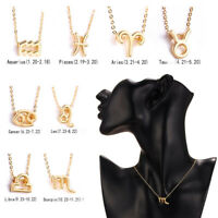 (Clavicular Chain) ZodiaGenericName Anhänger 12 Sternbilder Halskette
