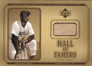 2001 Upper Deck Cooperstown Collection Ernie Banks Game-Used Bat card #B-EB