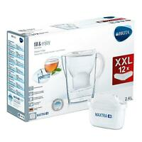 BRITA Marella MAXTRA+ Plus 2.4L Water Filter Jug + 12 Month Cartridges Year Pack