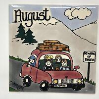 H & R Johnson Ceramic 6 Inch Calendar Tile August Month Signed M Vogekang 1992