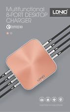 8 USB QC3.0 50W  UK / EU Desktop Charger iPhone X 8Plus OnePlus 5 Xiaomi Mi 6 S8