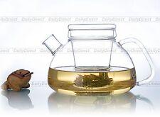 1pc Heat-Resisting Glass Tea Pot with infuser/Insert Filter&Lid 37.2fl.oz/1100ml