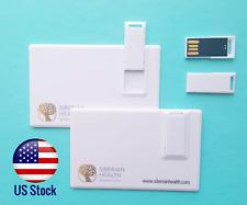 Lot of 2 8GB Credit Card Size USB 2.0 Flash Card Pen Drive Memory Stick