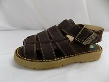 New Dr Doc Martens Kids Fisherman Sandals Dark Brown NOS UK Child 6 US Toddler 7