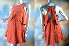 NEW FREE PEOPLE sexy open back boho strappy cross front dress SZ: S