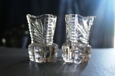 DEPRESSION GLASS VASES   PAIR