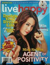 Live Happy Feb 2017 Ming Na Wen Agent of Positivity Dream Life FREE SHIPPING sb