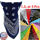 Bandana Paisley Face Mask Head Wrap Scarf Cotton Mouth Cover Handkerchief Lot