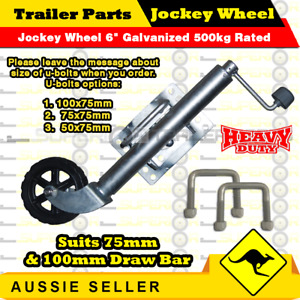 "Jockey Wheel 6"" Galvanized 500kg (1000lbs) rated - Boat Jet-Ski Box Trailers"