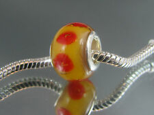 SILVER PLATED CORE MURANO GLASS BEAD FOR EUROPEAN STYLE CHARM BRACELETS #MSB 385
