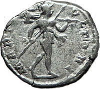 CARACALLA 197AD Rome Authentic Genuine Silver Ancient Roman Coin Mars i60447