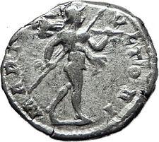 CARACALLA 197AD Rome Authentic Genuine Silver Ancient Roman Coin Mars i60447
