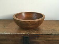 LARGE DECORATIVE ANTIQUE RING TURNED WOODEN BOWL 10.2 inches