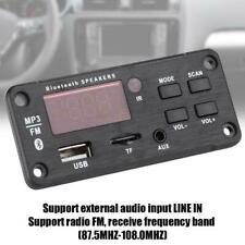 DC12V MP3 Bluetooth 5.0 Decoder Board Audio Modul USB Fernbedienung Aux FM Q4X2