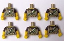 Lego 6 Torso Body For Minifigure Figure Dino Tracker Hunter Ranger Series