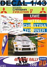 DECAL 1/43 MITSUBISHI CARISMA GT EVO V UWE NITTEL R.FINLAND 1998 DnF (03)