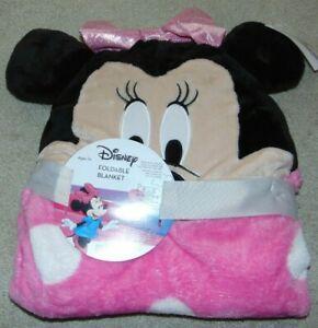 ~NWT Girls DISNEY MINNIE MOUSE Foldable Blanket! Super Cute FS:)~