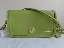 NWT 17994 Coach Classic Leather Shoulder Purse Lime