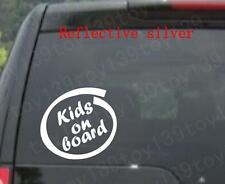 KIDS IN SIDE / baby ON BOARD - Vinyl car WINDOW WALL Decal Sticker / reflective