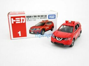 Takara Tomy Tomica #001 Nissan X-Trail Fire Command Car 1/63 Diecast Toys Car