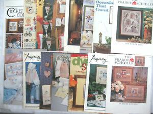Lot of 16 Cross Stitch Books & Leaflets, Prairie Schooler, Nursery Rhymes, More