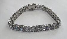 Sterling Silver 925 Tennis Bracelet Cubic Zirconia CZ 8 Inch 7 Mm