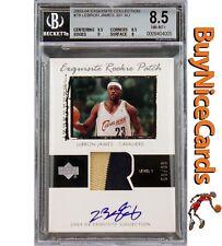 03-04 Lebron James Upper Deck Exquisite 2 Color RC Rookie Patch Auto /99 BGS 8.5