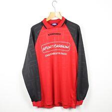 Vintage 90s UMBRO Long Sleeve Wavey Football Top Shirt | Retro Classic | XL