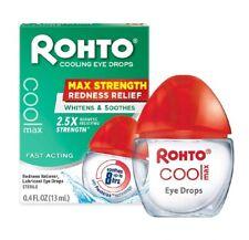 Rohto Cooling Eye Drops & Redness Relief Maximum Strength 0.4 oz