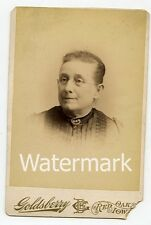 Cabinet Card Photo by Goldsberry Id'd Lady Chestina Holt family  Red Oak IA