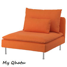 IKEA Soderhamn One (1) Seat Sofa Section Cover Slipcover Samsta Orange New