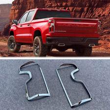 NEW ABS Chrome Rear Tail Light Cover Trim for 2019-2020 chevrolet silverado 1500
