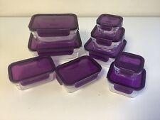 Glasslock 10er Set Frischhaltedosen Vorratsdose Glas Dose Behälter  lila R2++