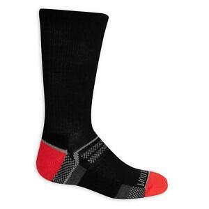 🧦 🍇 FRUIT OF THE LOOM Boys Active Crew Socks 6 Pack Black Fits shoe sz 9-2.5