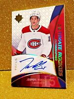 2018-19 JESPERI KOTKANIEMI Ultimate Collection Rookies Autograph On Card Auto