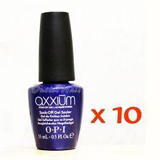 LOT 10 OPI Axxium Soak Off Gel Sealer UV Blue Top Coat Set 15ml/0.5oz > Ship 24H