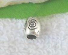 30pcs Tibetan Silver Spiral Tube Spacer Beads T10719
