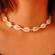 Women Shell Necklace Tie Choker Natural Boho Jewelry Gypsy Bohemian Ethnic UK