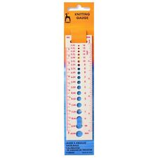 PONY KNITTING NEEDLE GAUGE - IMPERIAL,METRIC & U.S. SIZES - 2mm -10mm - P60644