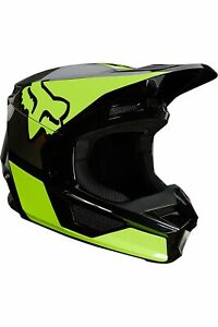 Fox Racing V1 REVN Helmet, Fluorescent Yellow, Small