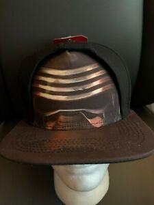 New with Tags NWT Star Wars Kylo Ren SnapBack Flat Brim Bill Hat OSFM