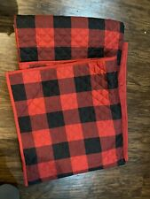 Buffalo Plaid Red Black Quilt Comforter Set Twin/TwinXL NEW