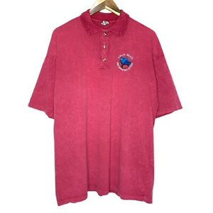 Vintage Airlie Beach Great Barrier Reef Tourism Mens Polo Shirt Size XL Maroon